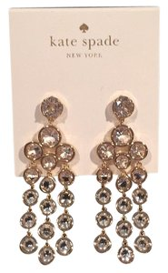 Kate Spade Nwt Kate Spade Gold Tone Dangle Chandelier Statement Earrings