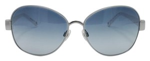 Chanel White Quilting Temples Silver Chanel Sunglasses 4168 c.123/3C 59