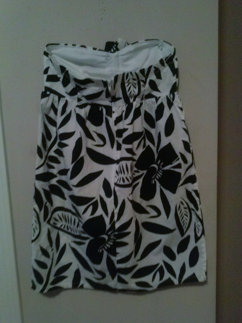 Ruby Rox short dress Black,white Demure Dainty Preppy Summer Spring Everyday Girls Juniors Ladies Cute Sexy Bold Floral Flowers Print Spandex Cotton Sun on Tradesy