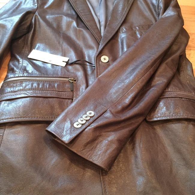 Versace Collection Grey Leather Jacket