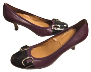 Tahari Eggplant Purple/Black/Silver Pumps