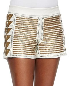 Alice + Olivia Beaded Dress Shorts White