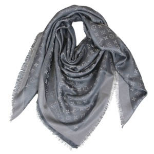 Louis Vuitton New Louis Vuitton LV Shiny Charcoal Monogram Shine Shawl & Wrap M75120