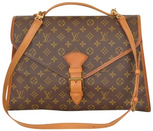 Louis Vuitton Monogram Messenger Briefcase Laptop Bag