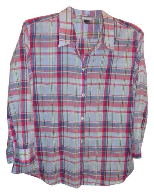 Preload https://img-static.tradesy.com/item/20197846/american-living-plaid-shirt-button-down-top-size-16-xl-plus-0x-0-1-650-650.jpg