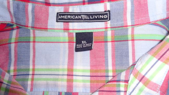American Living Button Down Shirt Plaid