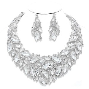 Other Rhinestone Crystal Teardrops Necklace and Earrings