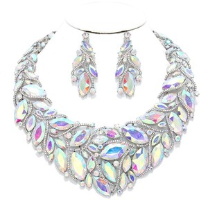 Other Rhinestone And AB Crystal Teardrops Necklace and Earrings