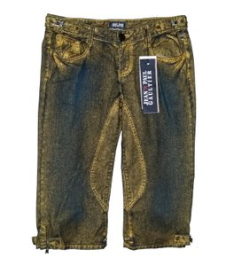 Jean-Paul Gaultier Capri/Cropped Denim-Distressed