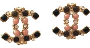 Chanel Gold and Multicolor Classic CC Earrings