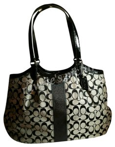 Coach Signature Fabric Tote Shoulder Bag
