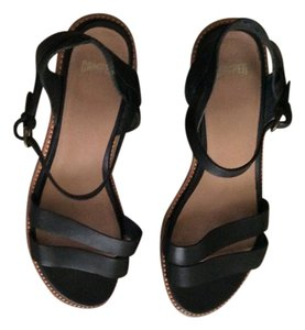 Camper black Wedges