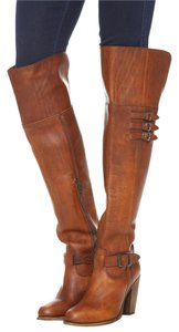 Frye Leather Otk Cognac Brown Boots