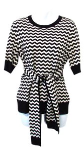 Per Se 1/2 Sleeve Chevron Sweater