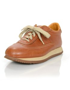 Herms Sneakers Leather brown Athletic
