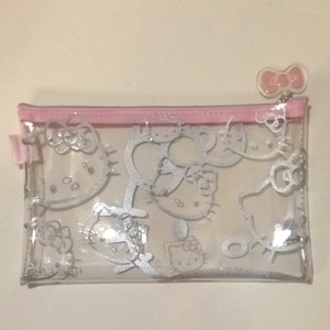 1c96d0192 Hello Kitty Hello Kitty Sephora Clear Pink Cosmetic Makeup Travel Bag Sanrio