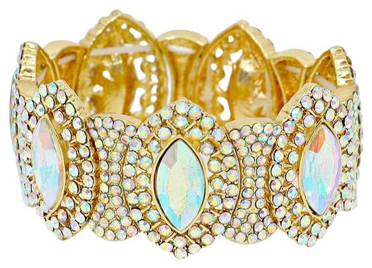 Preload https://img-static.tradesy.com/item/20200036/ab-crystal-gold-abalone-rhinestone-teardrops-stretchable-cuff-bracelet-0-1-540-540.jpg