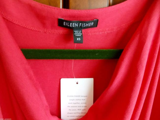 Eileen Fisher short dress Pink Tapeers At Hem Supple Stretch Drapey Cap Sleeve Up Or Down on Tradesy