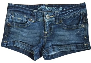 Guess Jean Mini Distressed Mini/Short Shorts Dark Wash