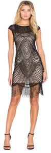 RAGA Beaded Sheer Holiday Nye Dress