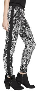Express Crocodile Jogger Relaxed Pants Black & White