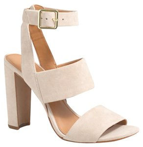 J.Crew Suede Sand Strappy Nude Sandals