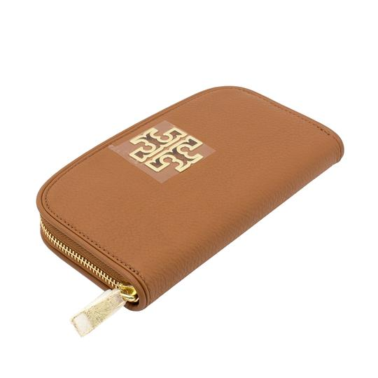 Tory Burch Britten Zip Continental Wallet, Bark