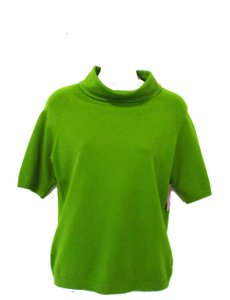 Per Se Cowl Neck Top Lime Green