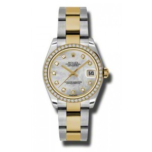 Rolex Rolex Pre-Owned Datejust Steel and Yellow Gold MOP Dial