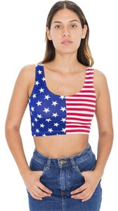 American Apparel Us Crop Summer Top Red, White, Blue