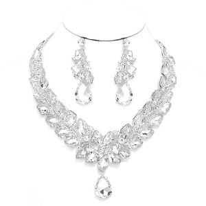 Other Rhinestone And Crystal Teardrops Necklace and Earrings