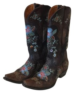Old Gringo Brown/multi-colored embroidery Boots