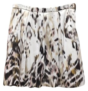 Elie Tahari Skirt White and Multi Colored