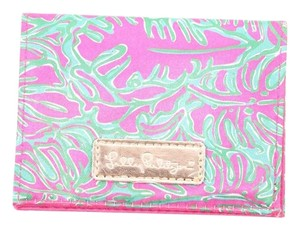 Lilly Pulitzer Pink Green Floral Print Mini Wallet