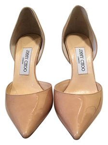 Jimmy Choo Patent Nude Pumps