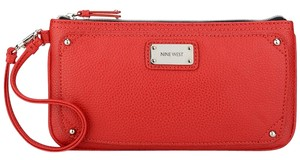 Nine West Faux Leather Wristlet in Red