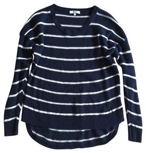 Madewell Stripe Swing High-low Tomboy Oversized Sweater