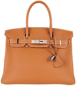 Herms Tote in Golden Brown