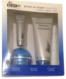 Dr Brandt Dr Brant Pores No More 3pcs Set Cleanser Refiner & Pore Thing