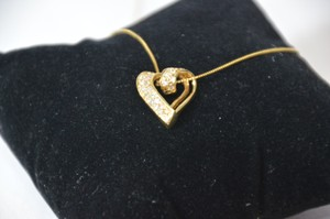 0.50ct. Natural Diamonds Heart Shape Necklace 14k Yellow Gold