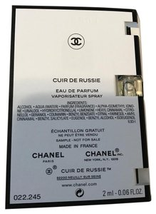 Chanel Chanel Cuir De Russie Eau de Parfum 2ML Sample Spray
