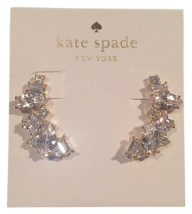 Kate Spade Nwt Kate Spade New York Crystal Cluster Pierced Crawler Earrings