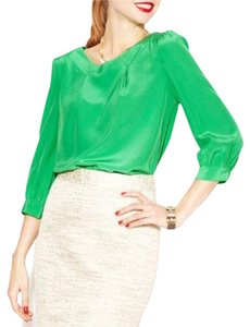 Kate Spade Silk Top Green