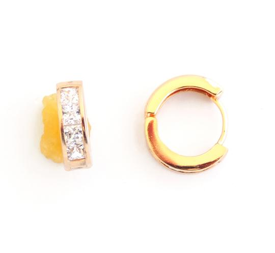 Other 18KT Gold Filled Cubic Zirconia Huggie Earrings