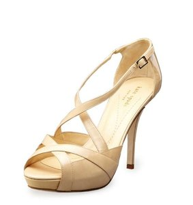 Kate Spade Patent Leather Tan Pink Nude Sandals