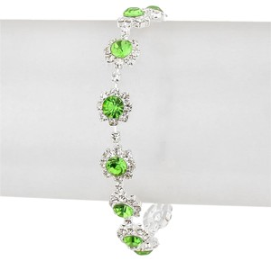Other Green Crystal Rhinestone Bracelet
