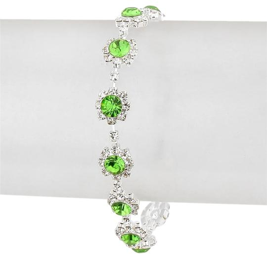 Preload https://img-static.tradesy.com/item/20201397/green-silver-clear-crystal-rhinestone-bracelet-0-1-540-540.jpg
