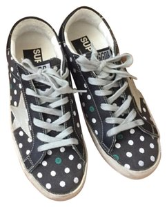 Golden Goose Deluxe Brand Navy with white polka dots. Athletic