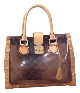 Louis Vuitton Studded Spike See Through Amber Tote in Clear