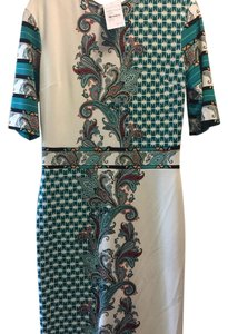 Etro short dress off white /with color on Tradesy